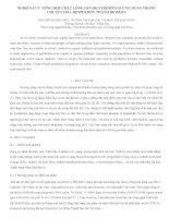 BÀI báo KHOA học NGHIÊN cứu TỔNG hợp CHẤT LỎNG ION họ PYRIDINIUM ỨNG DỤNG TRONG CHUYỂN hóa HESPERIDIN THÀNH DIOSMIN