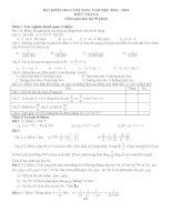 Tổng hợp Đề kiểm tra học kì II môn toán 6-7-8-9 năm học 2014 - 2015