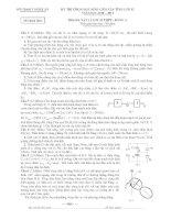 Tuyển tập đề thi HSG môn vật lý lớp 12 hay nhất  (7)