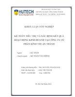 Kế toán tiêu thụ và xác định kết quả hoạt động kinh doanh tại công ty cổ phần Kính Thuận Thành