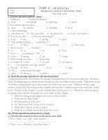 Đề anh 8 - sưu tập đề kiểm tra, thi học sinh giỏi tiếng anh 8 tham khảo bồi dưỡng  (332)