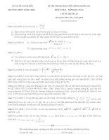Đề thi thử quốc gia lần 2 Môn toán trường THPT Đông Anh Hà Nội kèm đáp án chi tiết
