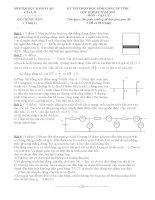 Tuyển tập đề thi HSG môn vật lý lớp 12 hay nhất  (37)