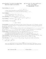Đề thi thử quốc gia Môn toán trường THPT Chu Văn An An Giang kèm đáp án chi tiết