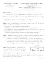 Tuyển tập đề thi HSG môn vật lý lớp 12 hay nhất  (34)