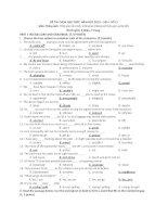 Đề ôn thi học sinh giỏi Tiếng Anh lớp 12 số 27