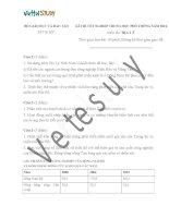 Đề thi thử tốt nghiệp địa lí THPT chuyên Đại học Sư phạm Hà Nội