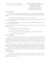 SỞ GIÁO DỤC & ĐÀO TẠO NINH BÌNH TRƯỜNG THPT TRẦN HƯNG ĐẠO ĐỀ THI THỬ THPT QUỐC GIA NĂM HỌC 2014-2015 MÔN NGỮ VĂN
