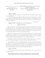 14 ĐỀ THI HỌC SINH GIỎI NGỮ VĂN 6 CỰC HAY