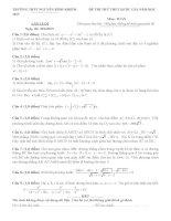 Đề thi thử quốc gia Môn toán trường THPT Nguyễn Bỉnh Khiêm kèm đáp án chi tiết