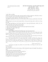 SỞ GD & ĐT BẮC NINH ĐỀ THI MINH HỌA VÀ ĐÁP ÁN–KÌ THI THPT QG 2015 MÔN NGỮ VĂN ĐỀ SỐ 25