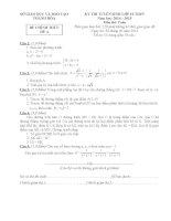 đề thi vào lớp 10 môn toán THPT tỉnh thanh hoá năm 2014-2015