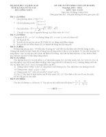 đề thi vào lớp 10 môn toán THPT tỉnh bà rịa vũng tàu năm 2014-2015