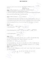 đề thi thử thpt nguyễn khuyến môn toán lần 1