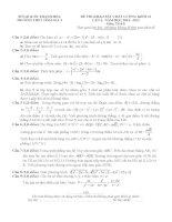 Đề thi thử quốc gia lần 3 Môn toán trường THPT Gia Tĩnh 2 Thanh Hóa  kèm đáp án chi tiết