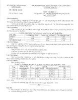 Tổng hợp Đề thi học sinh giỏi Địa Lý 9 tỉnh Kiên Giang từ năm 2006 đến 2015(có đáp án)