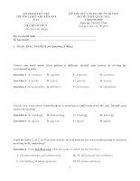 50 đề thi thử THPT quốc gia môn Tiếng Anh có đáp án