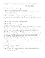 Đề thi thử quốc gia lần 1 Môn toán Trường THPT Chuyên Lê Quý Đôn Bình Định kèm đáp án
