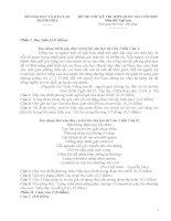 ĐỀ THI VÀ ĐÁP ÁN MÔN NGỮ VĂN KÌ THI THỬ THPT QUỐC GIA TỈNH THANH HÓA