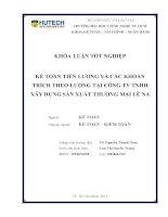 Kế toán tiền lương và các khoản trích theo lương tại công ty TNHH XD SX TM Lê Na