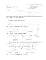 Đề kiểm tra giữa kỳ I Toán lớp 5 VNEN