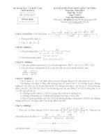 Đề thi học sinh giỏi môn toán 9 tỉnh Thanh Hóa năm học 2014  2015 (có đáp án)