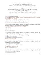 NGÂN HÀNG ĐỀ THI TRẮC NGHIỆM LÝ THUYÊT TỔNG HỢP THUYỀN TRƯỞNG HẠNG TƯ KÈM ĐÁP ÁN FULL