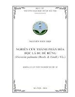 Nghiên cứu thành phần hóa học lá đu đủ rừng ( trevesia palmata (roxb   lindl) vis)
