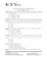 Đề thi thử môn Vật lý (11)