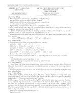 Đề thi học sinh giỏi cấp tỉnh môn Hóa học lớp 9 năm 2014 - 2015 số 20