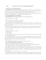 Bài giảng NGUYÊN lý II  nhiệt động học