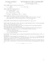 Đề kiểm tra học kì 1 môn Toán lớp 11 số 11