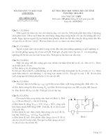 Đề và đáp án thi học sinh giỏi Lâm Đồng 2013 môn vật lý