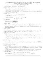 Đề thi thử đại học môn Toán kèm đáp án số 7