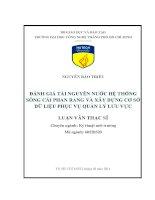 Đánh giá tài nguyên nước hệ thống sông Cái Phan Rang và xây dựng cơ sở dữ liệu phục vụ quản lý lưu vực