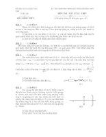 Đề thi học sinh giỏi vật lý lớp 12 chọn lọc số 8