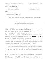 Đề thi HSG tỉnh Ninh Bình lớp 12 năm 2008-2009 môn vật lý