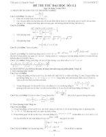 Đề thi thử đại học môn Toán có lời giải chi tiết số 113