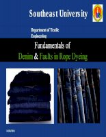Fundamentals of denim & faults in rope dyeing