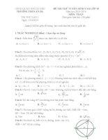 Đề thi thử vào lớp 10 môn Toán trường THCS An Đà, Hải Phòng năm học 2015-2016 (Lần 1)
