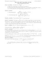 Đề thi thử đại học môn Toán lời giải chi tiết số 38
