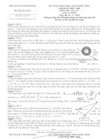 Đề và đáp án thi chọn HSG vật lí 12 tỉnh Thanh Hóa 2009-2010