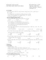 Kiểm tra 1 tiết hình học 11