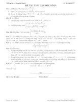 Đề thi thử đại học môn Toán lời giải chi tiết số 40