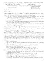 Đề thi thử quốc gia - 2015 - Môn Sinh học - Trường THPT Nông Cống 4 - Thanh Hóa