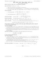 Đề thi thử đại học môn Toán có lời giải chi tiết số 112