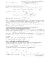 Đề thi thử Đại học môn Toán kèm hướng dẫn giải số 11