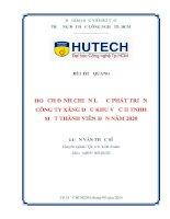 Hoạch định chiến lược phát triển công ty xăng dầu dầu khu vực II TNHH một thành viên đến năm 2020