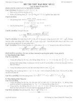 Đề thi thử đại học môn Toán có lời giải chi tiết số 12