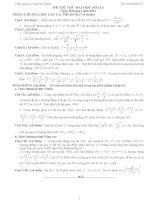 Đề thi thử đại học môn Toán có lời giải chi tiết số 114